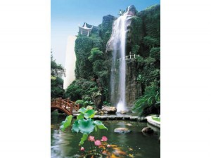 The Backgarden Waterfall of Guangzhou Garden Hotel