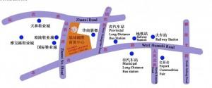 Map of Wholesale Markets in Zhanxi Road