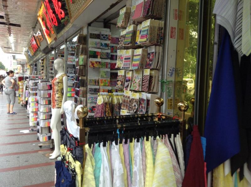Fabric shop on the roadsize of zhongda fabric market-1