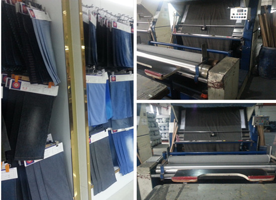 Jeans samples and inspection machines