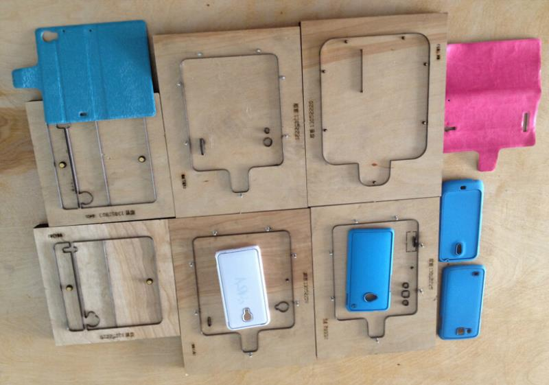 Making molds for phone covers in China