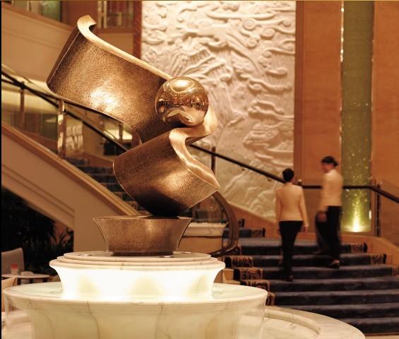 The Lobby of Shangri-la Hotel in Guangzhou