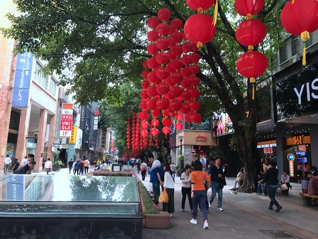 Beijing Lu Pedestrian Street in Guangzhou, China