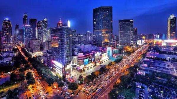 Tianhe CBD in Guangzhou, China