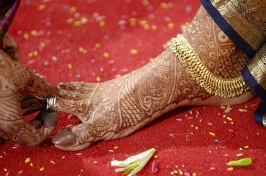 Bride Toe Ring in Indian Wedding