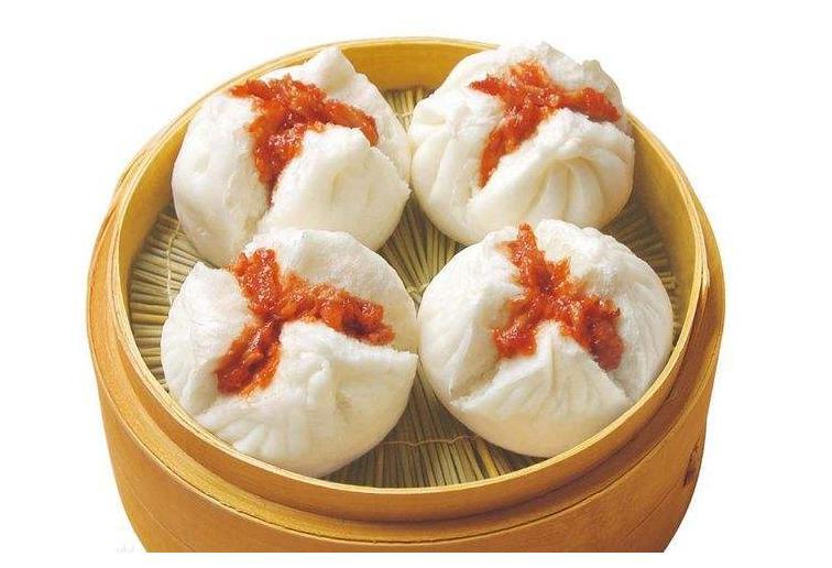 Cantonese Dim Sum--Steamed Pork Buns