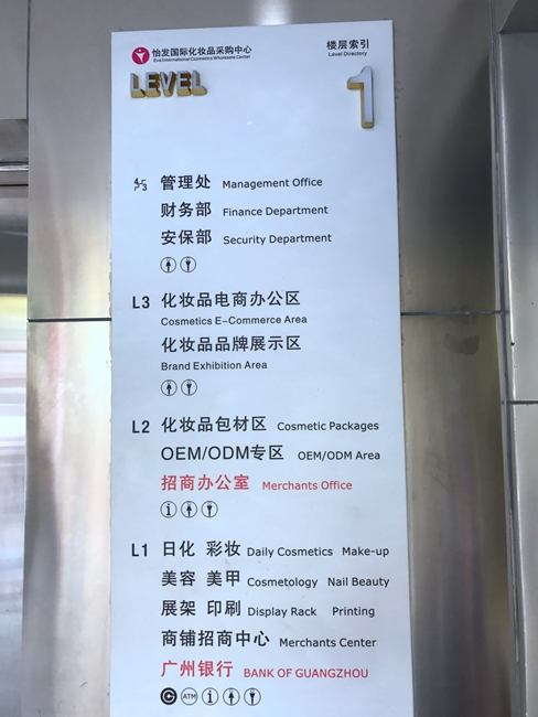 Floor Directory for Eva International Cosmetic Purchasing Center in China-1