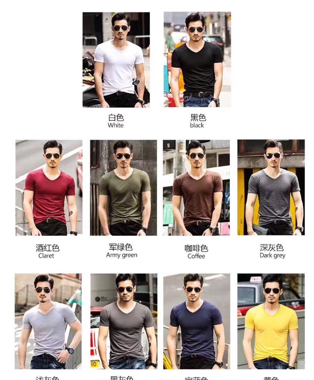 Blank V Neck Shirts for Men in Stock