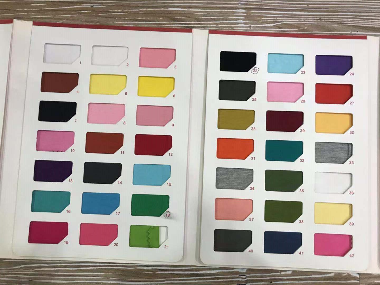 Color Card for T-shirts - Business in Guangzhou-1