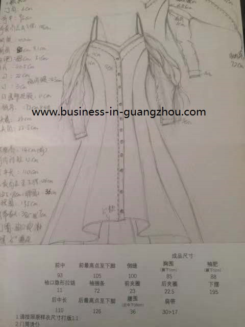 Sketch for Clothes - Business in Guangzhou-1