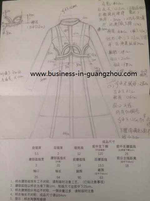 Sketch for Clothes - Business in Guangzhou-2