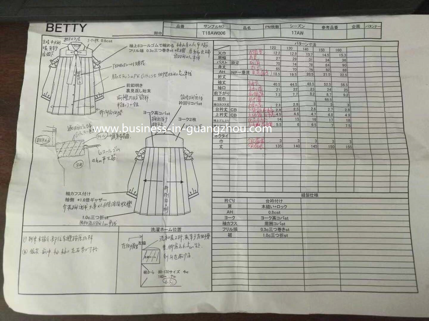 Sketch for Clothes - Business in Guangzhou-3