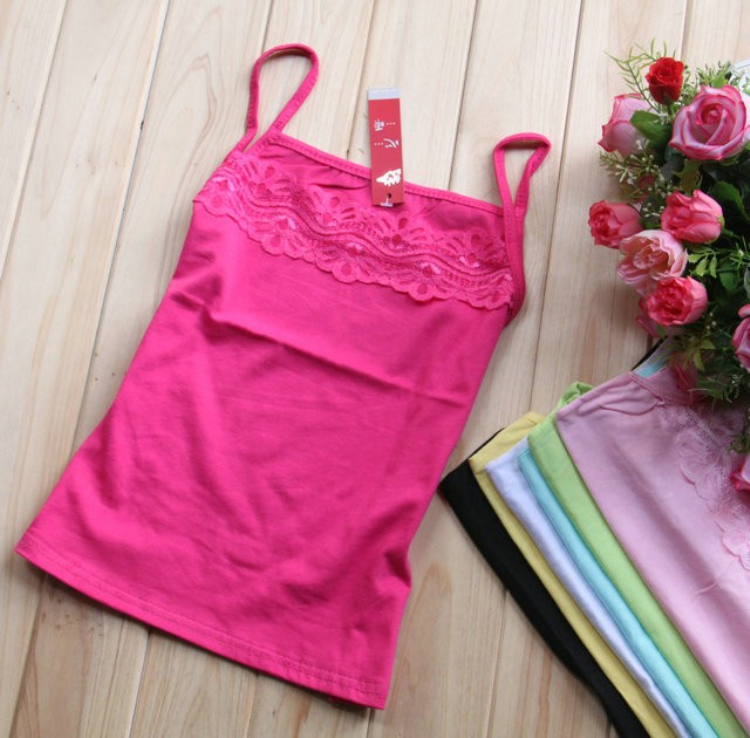 05 Ladies Lace Vest Tops from China Clothing Manufacturer