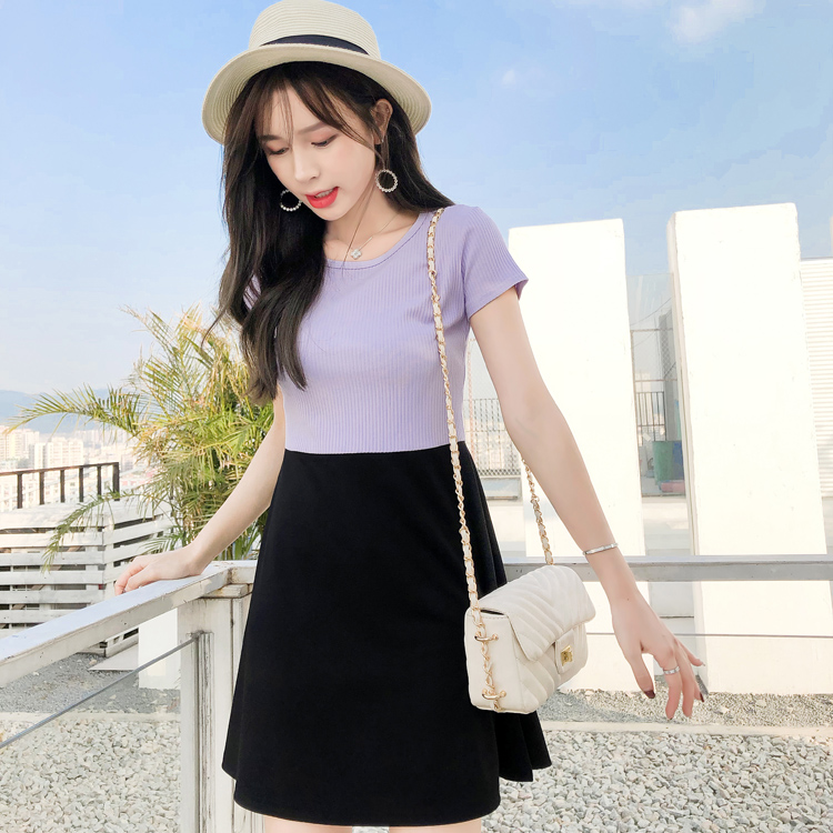 07 Elegant Two Tone Dresses at Wholesale Price for Women