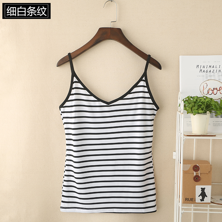 07 Promotional Tank Tops with Pinstripes for Girls