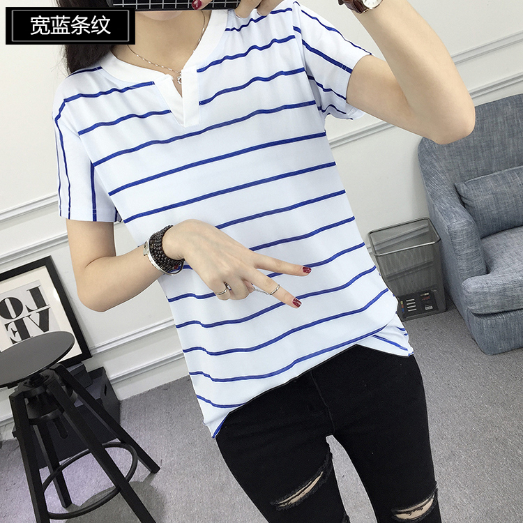 10 Classic Two Tone V-neck Shirts for Women