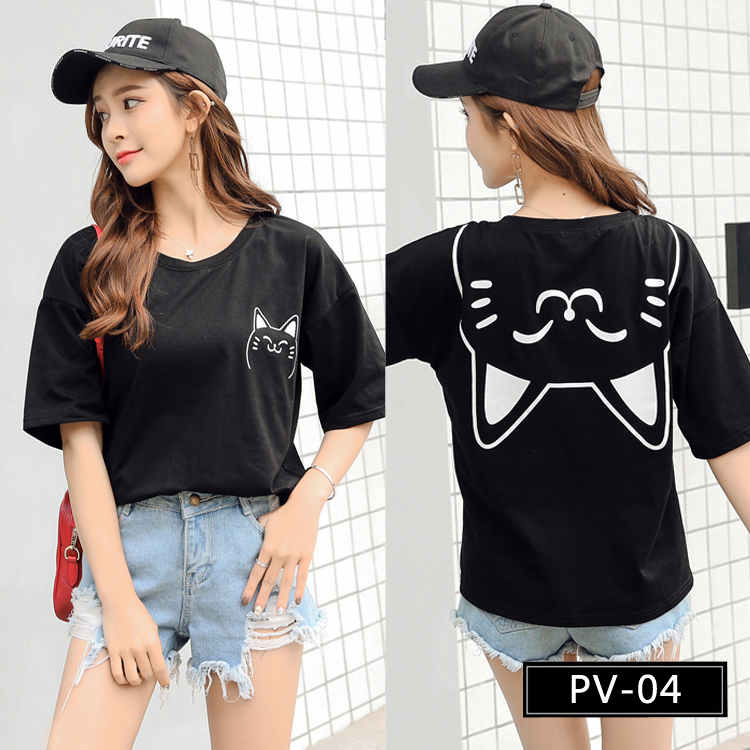 PV-04 Cute Girls' Graphic Tee Shirts from China T-shirts Factory