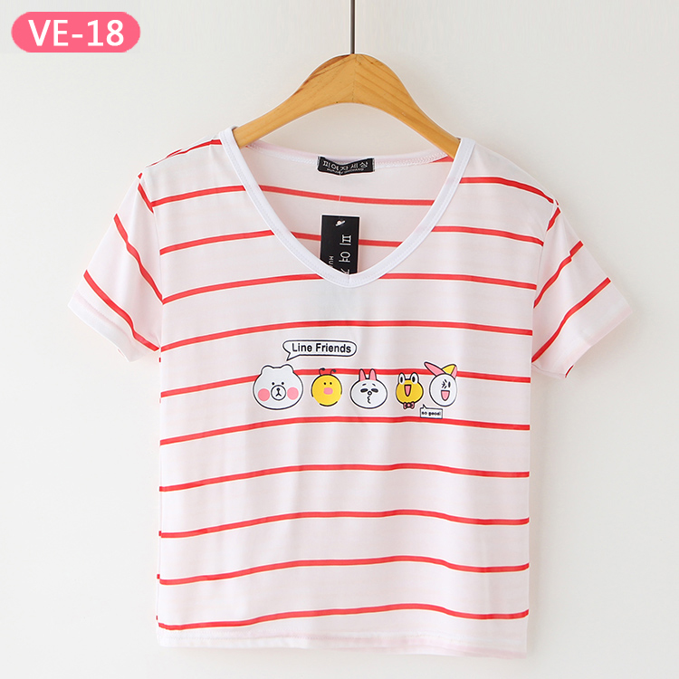 VE-18 Printed Cotton Crop Tops with Prints for Girls