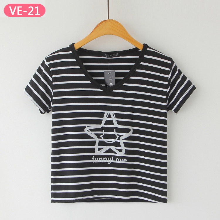 VE-21 Women's Cute Crop Tops with Print at Wholesale Price