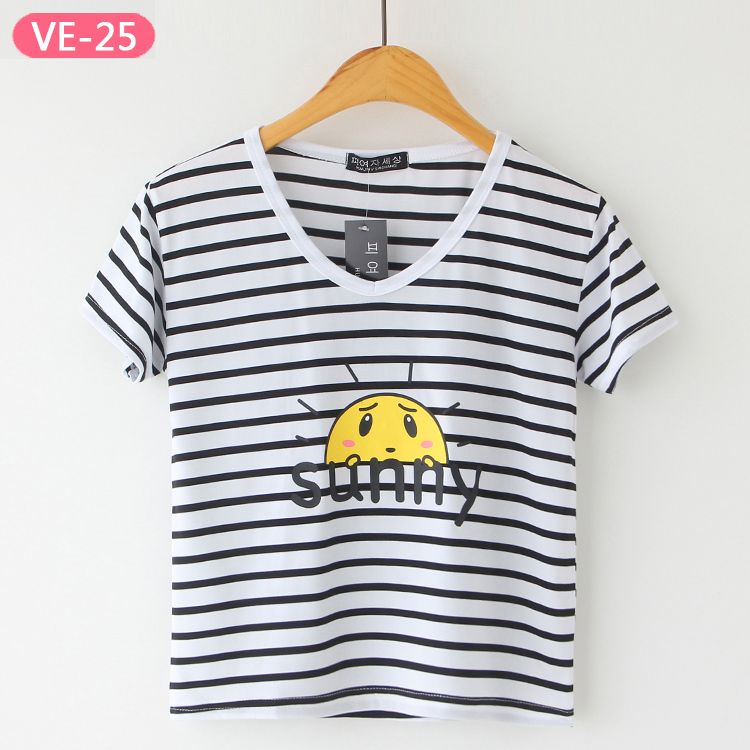 VE-25 Cute Wholesale Crop Tops for Girls from China Tee Shirts Manufacturer