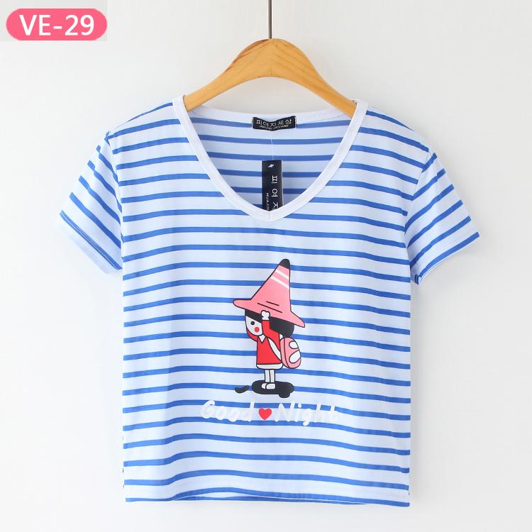 VE-29 China Wholesale V-neck Crop Tops for Women