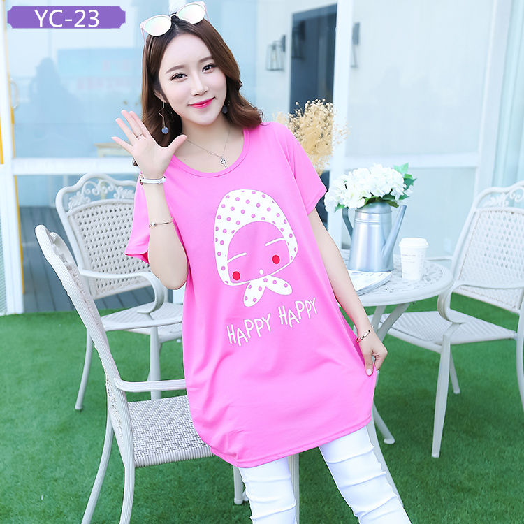 YC-23 Women's Oversized T-shirts with Graphic Design