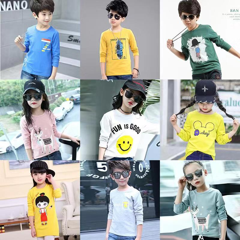 Long Sleeve Graphic Tee Shirts for Kids