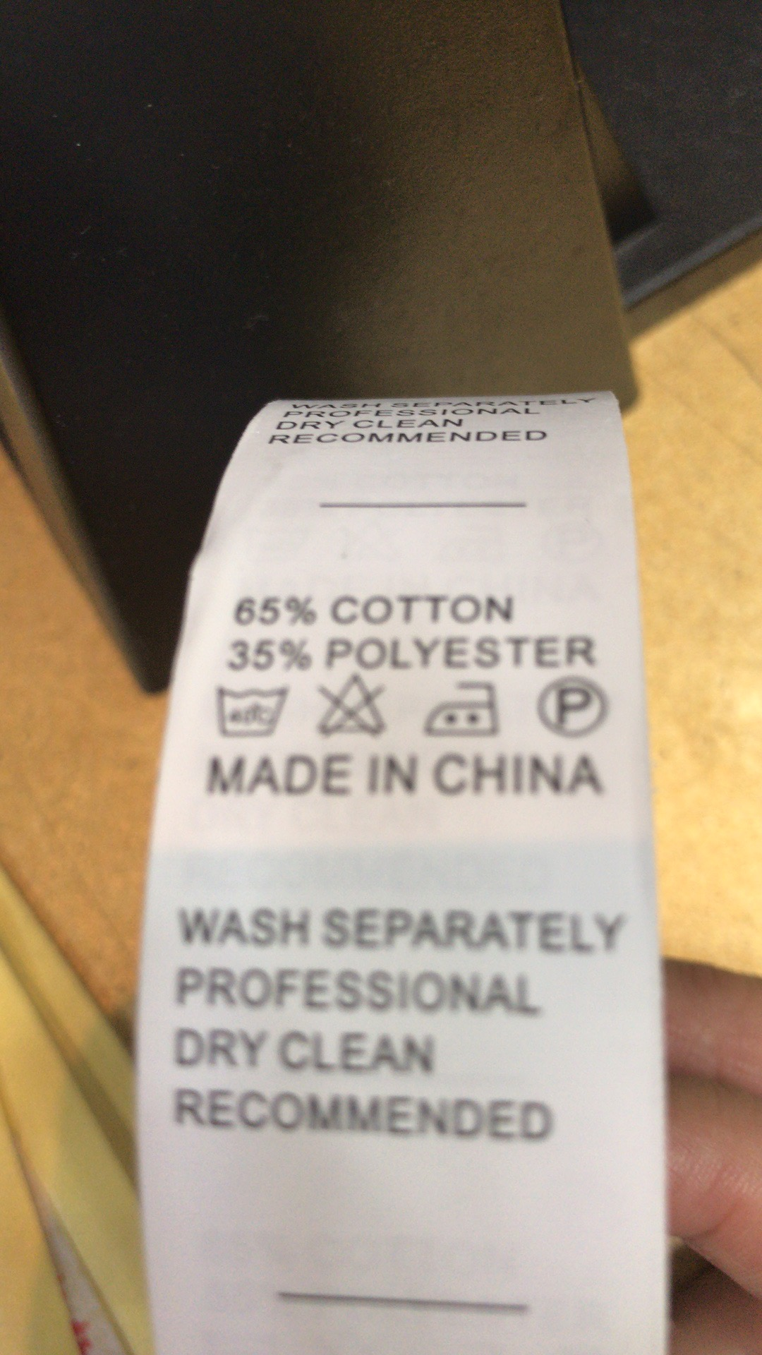 Washing Tags for Private Label Clothes from China